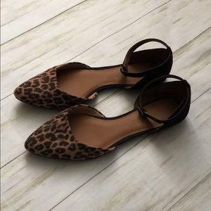 Leopard Print Pointed Flats